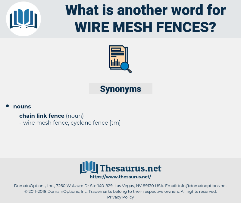 wire mesh fences, synonym wire mesh fences, another word for wire mesh fences, words like wire mesh fences, thesaurus wire mesh fences