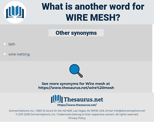 wire mesh, synonym wire mesh, another word for wire mesh, words like wire mesh, thesaurus wire mesh