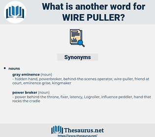 wire puller, synonym wire puller, another word for wire puller, words like wire puller, thesaurus wire puller