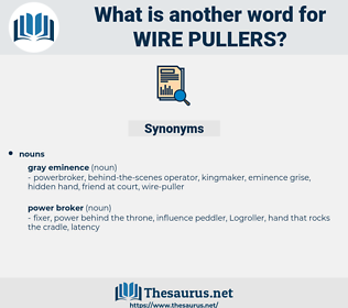 wire pullers, synonym wire pullers, another word for wire pullers, words like wire pullers, thesaurus wire pullers