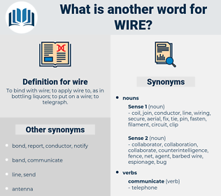 wire, synonym wire, another word for wire, words like wire, thesaurus wire