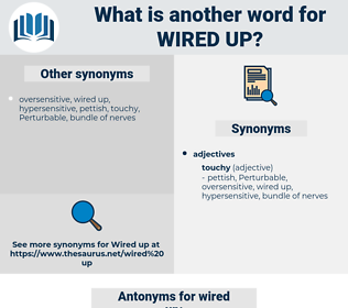 wired up, synonym wired up, another word for wired up, words like wired up, thesaurus wired up
