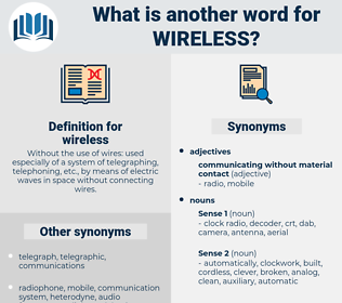 wireless, synonym wireless, another word for wireless, words like wireless, thesaurus wireless