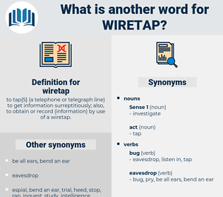 wiretap, synonym wiretap, another word for wiretap, words like wiretap, thesaurus wiretap