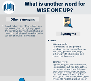 wise one up, synonym wise one up, another word for wise one up, words like wise one up, thesaurus wise one up