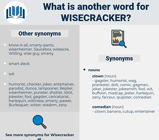 wisecracker, synonym wisecracker, another word for wisecracker, words like wisecracker, thesaurus wisecracker