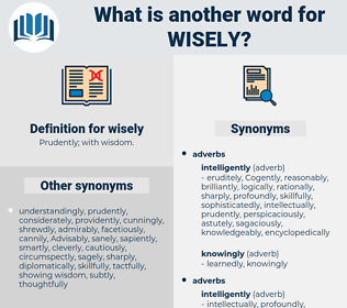 wisely, synonym wisely, another word for wisely, words like wisely, thesaurus wisely
