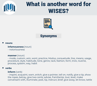 wises, synonym wises, another word for wises, words like wises, thesaurus wises