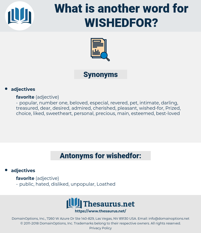 wishedfor, synonym wishedfor, another word for wishedfor, words like wishedfor, thesaurus wishedfor