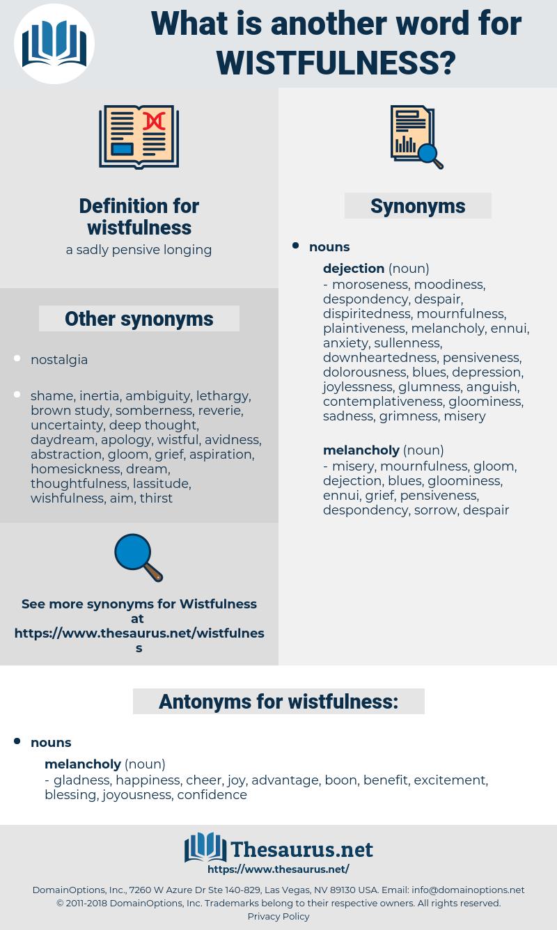 wistfulness, synonym wistfulness, another word for wistfulness, words like wistfulness, thesaurus wistfulness