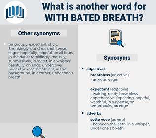 with bated breath, synonym with bated breath, another word for with bated breath, words like with bated breath, thesaurus with bated breath