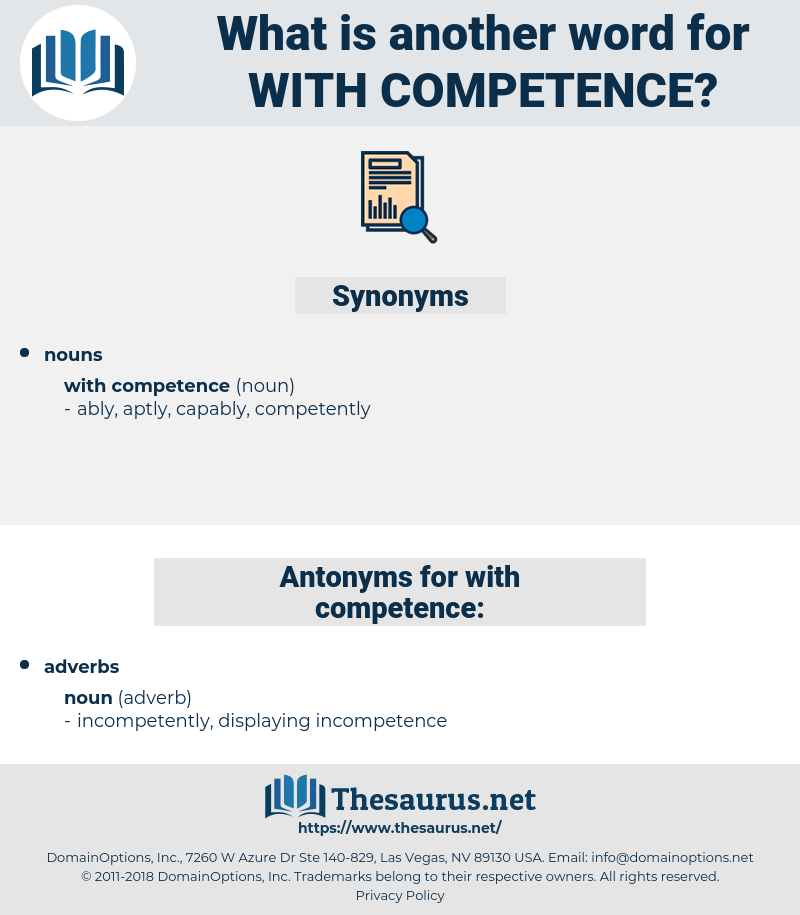 with competence, synonym with competence, another word for with competence, words like with competence, thesaurus with competence