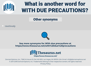 with due precautions, synonym with due precautions, another word for with due precautions, words like with due precautions, thesaurus with due precautions