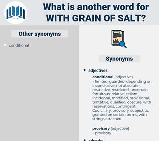 with grain of salt, synonym with grain of salt, another word for with grain of salt, words like with grain of salt, thesaurus with grain of salt
