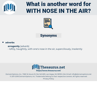 with nose in the air, synonym with nose in the air, another word for with nose in the air, words like with nose in the air, thesaurus with nose in the air