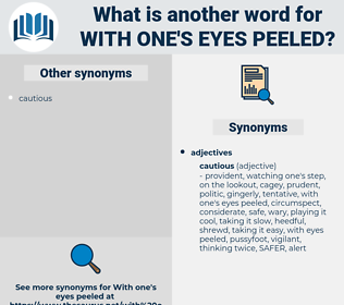 with one's eyes peeled, synonym with one's eyes peeled, another word for with one's eyes peeled, words like with one's eyes peeled, thesaurus with one's eyes peeled