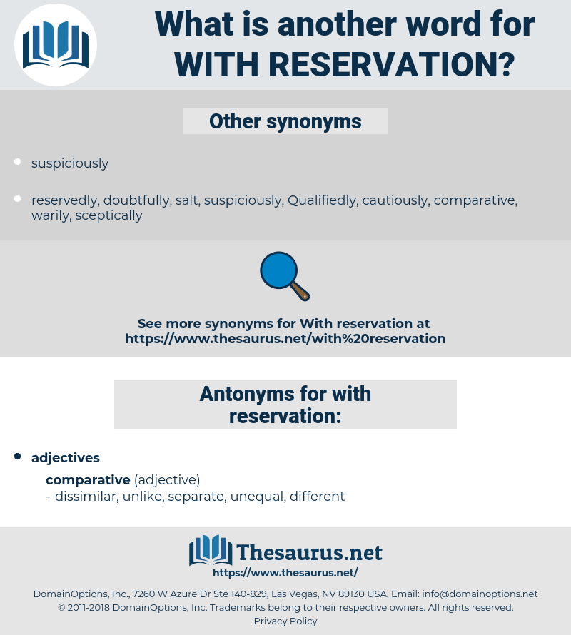 with reservation, synonym with reservation, another word for with reservation, words like with reservation, thesaurus with reservation