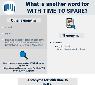 with time to spare, synonym with time to spare, another word for with time to spare, words like with time to spare, thesaurus with time to spare