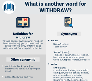 withdraw, synonym withdraw, another word for withdraw, words like withdraw, thesaurus withdraw
