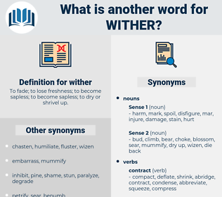 wither, synonym wither, another word for wither, words like wither, thesaurus wither