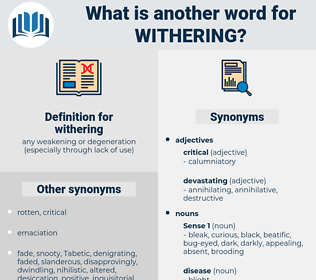 withering, synonym withering, another word for withering, words like withering, thesaurus withering