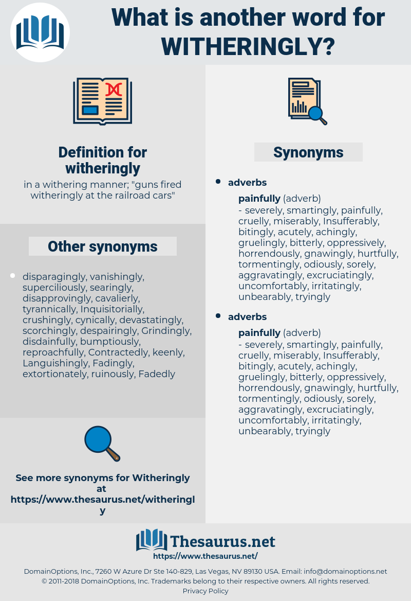 witheringly, synonym witheringly, another word for witheringly, words like witheringly, thesaurus witheringly