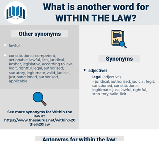 within the law, synonym within the law, another word for within the law, words like within the law, thesaurus within the law