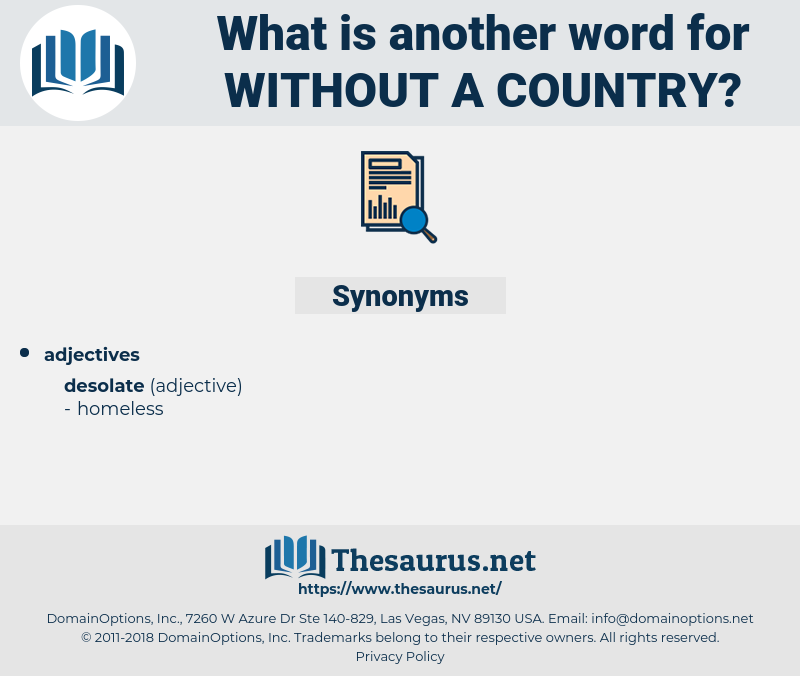 without a country, synonym without a country, another word for without a country, words like without a country, thesaurus without a country