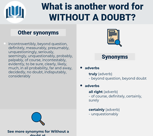 without a doubt, synonym without a doubt, another word for without a doubt, words like without a doubt, thesaurus without a doubt