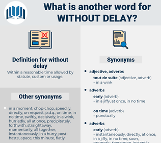 without delay, synonym without delay, another word for without delay, words like without delay, thesaurus without delay