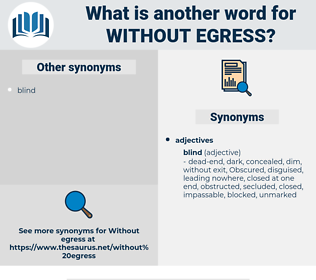without egress, synonym without egress, another word for without egress, words like without egress, thesaurus without egress