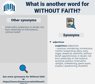 without faith, synonym without faith, another word for without faith, words like without faith, thesaurus without faith