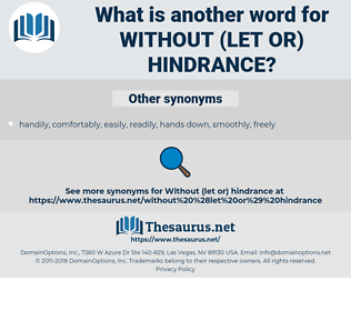 without (let or) hindrance, synonym without (let or) hindrance, another word for without (let or) hindrance, words like without (let or) hindrance, thesaurus without (let or) hindrance