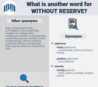 without reserve, synonym without reserve, another word for without reserve, words like without reserve, thesaurus without reserve