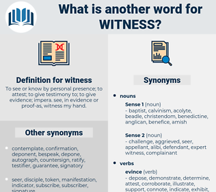 witness, synonym witness, another word for witness, words like witness, thesaurus witness