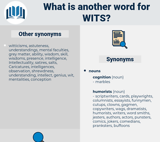 wits, synonym wits, another word for wits, words like wits, thesaurus wits