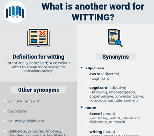 witting, synonym witting, another word for witting, words like witting, thesaurus witting