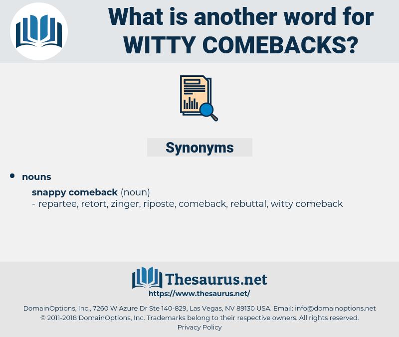 witty comebacks, synonym witty comebacks, another word for witty comebacks, words like witty comebacks, thesaurus witty comebacks