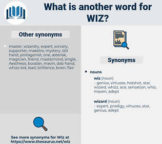 wiz, synonym wiz, another word for wiz, words like wiz, thesaurus wiz