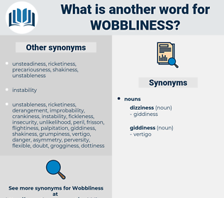 wobbliness, synonym wobbliness, another word for wobbliness, words like wobbliness, thesaurus wobbliness