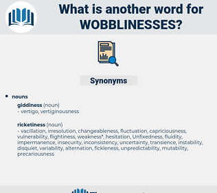 wobblinesses, synonym wobblinesses, another word for wobblinesses, words like wobblinesses, thesaurus wobblinesses