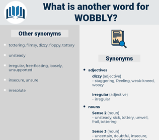 wobbly, synonym wobbly, another word for wobbly, words like wobbly, thesaurus wobbly