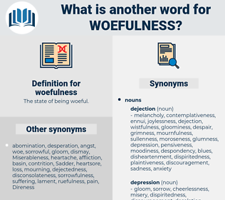 woefulness, synonym woefulness, another word for woefulness, words like woefulness, thesaurus woefulness