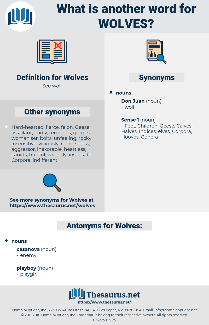 Wolves, synonym Wolves, another word for Wolves, words like Wolves, thesaurus Wolves