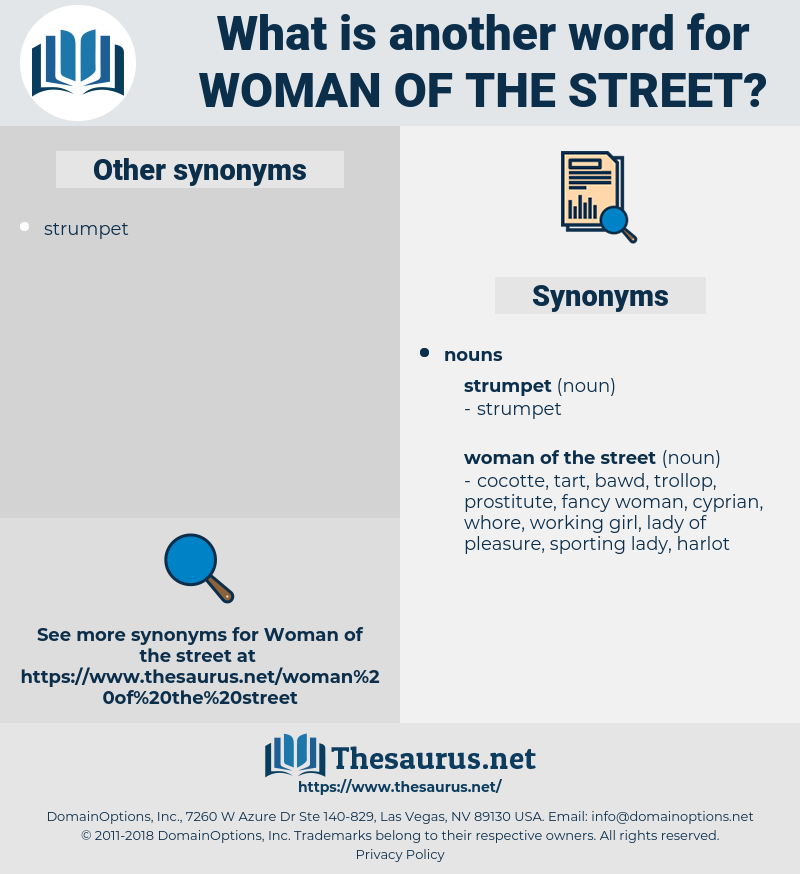 woman of the street, synonym woman of the street, another word for woman of the street, words like woman of the street, thesaurus woman of the street