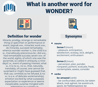 wonder, synonym wonder, another word for wonder, words like wonder, thesaurus wonder