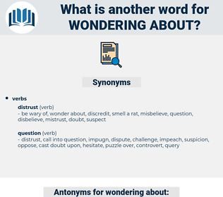 wondering about, synonym wondering about, another word for wondering about, words like wondering about, thesaurus wondering about