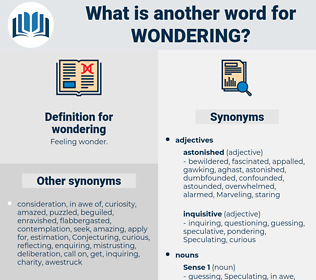 wondering, synonym wondering, another word for wondering, words like wondering, thesaurus wondering