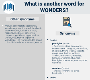 Wonders, synonym Wonders, another word for Wonders, words like Wonders, thesaurus Wonders