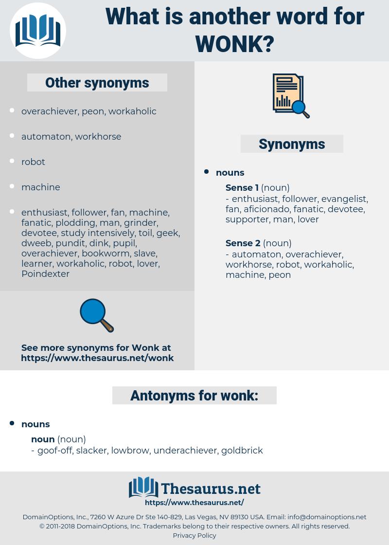wonk, synonym wonk, another word for wonk, words like wonk, thesaurus wonk